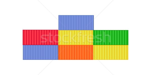 Carga color envío icono logística transporte Foto stock © robuart