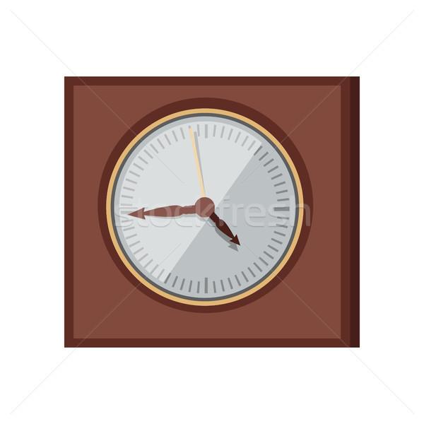стены часы дизайна вектора стиль элегантный Сток-фото © robuart