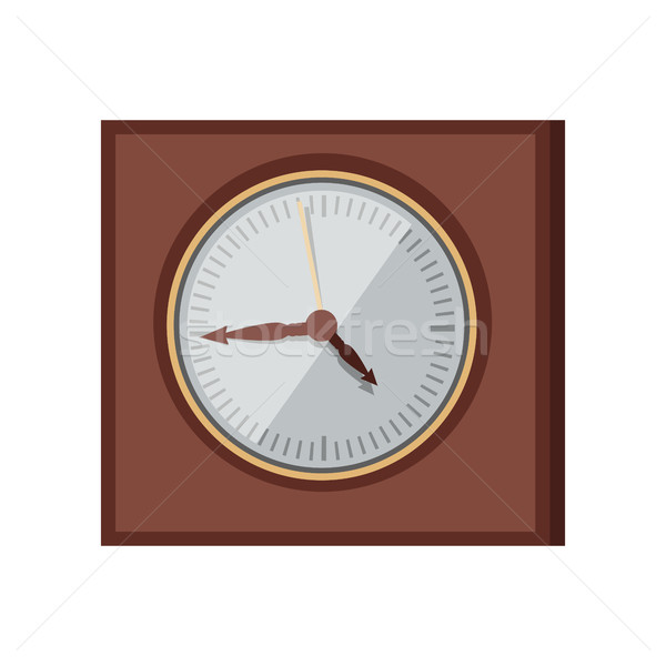 mur horloge design vecteur style l gante illustration vectorielle robuart. Black Bedroom Furniture Sets. Home Design Ideas