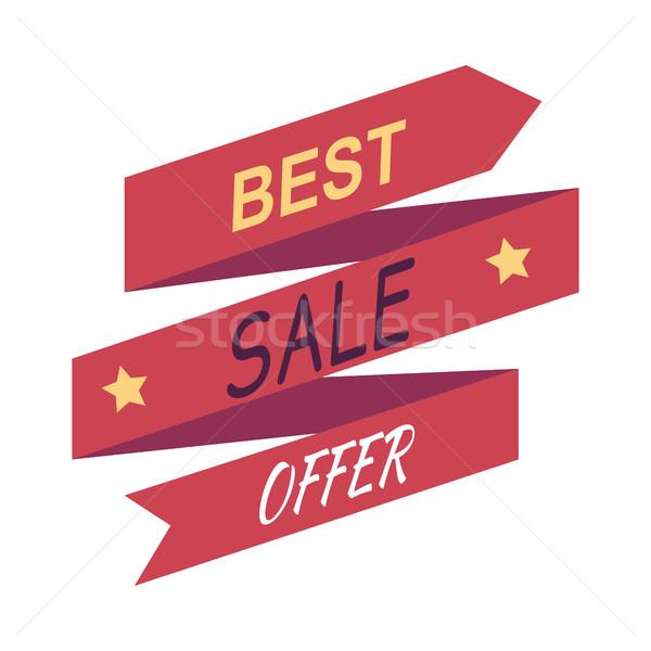 ストックフォト: ベスト · 販売 · 提供 · 割引 · バナー · 孤立した