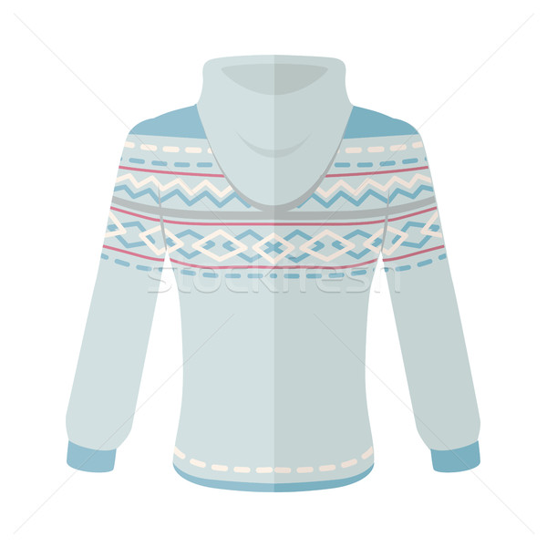 Warm Sweater with Ornaments Flat Design Vector Stock photo © robuart