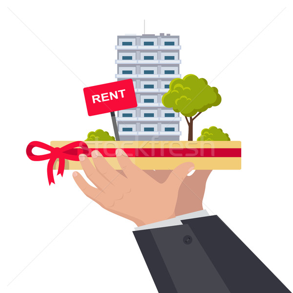 Rent Concept Vector Illustration in Flat Design. Stock photo © robuart