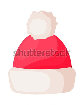 Hat. Santa Claus Headwear, Scarf, Red Mittens Stock photo © robuart