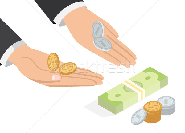 Offer of Money Isometric Projection Concept Stock photo © robuart