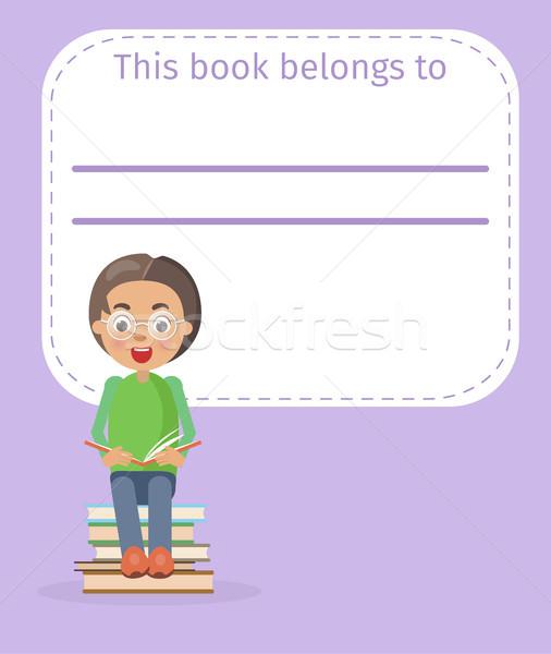 場所 図書 所有者 名前 少年 実例 ストックフォト © robuart