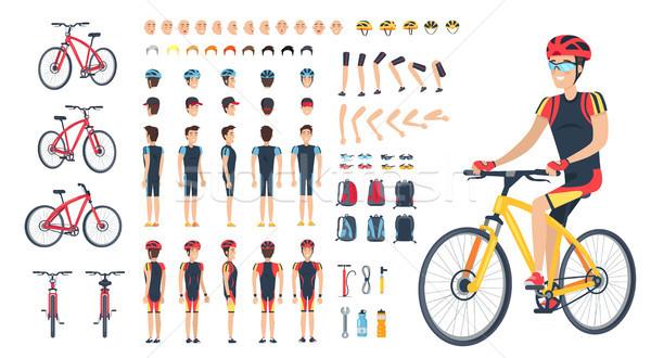 Homme spéciale vêtements vélo Photo stock © robuart