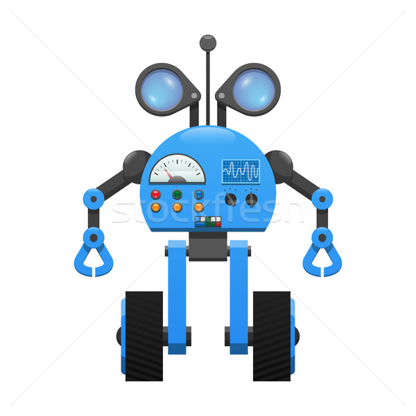 Robot on Wheels, Spy Lenses and Control Panel Stock photo © robuart