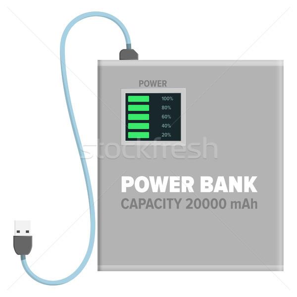 власти банка изолированный иллюстрация мощность белый Сток-фото © robuart