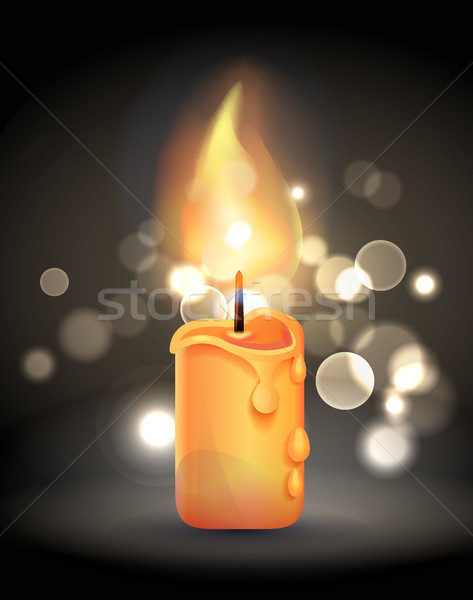 Stock foto: Magie · Brennen · Kerze · Flamme · realistisch · Design