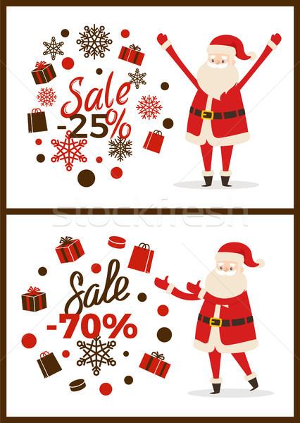 Noel satış Filmi iki ışık posterler Stok fotoğraf © robuart