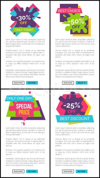 Zniżka dzisiaj Internetu szablony zestaw Zdjęcia stock © robuart