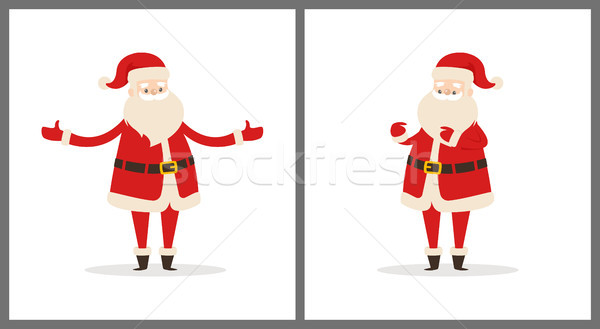 Happy Smiling Santa Claus Vector Illustration Stock photo © robuart