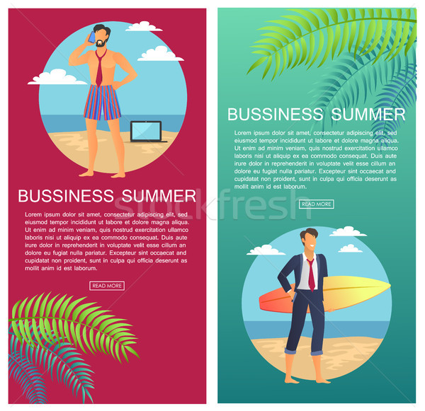Stockfoto: Business · zomer · web · ingesteld · zakenman