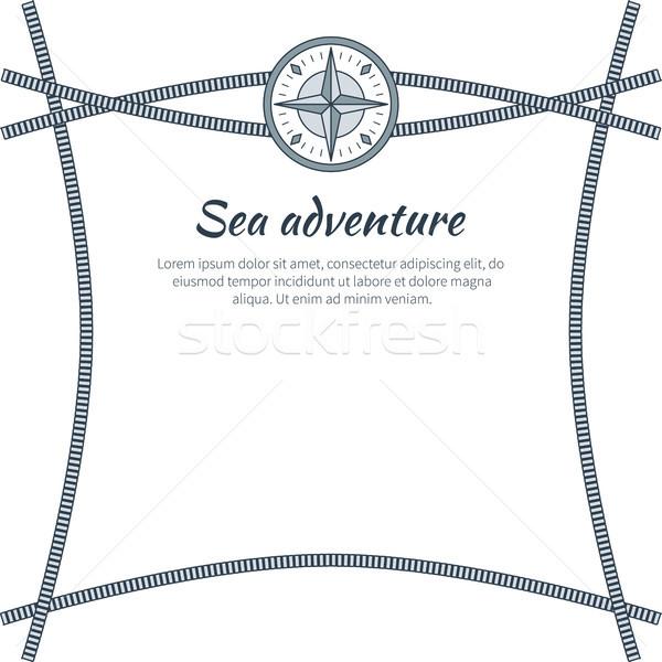 Sea Adventure, Colorful Card, Vector Illustration Stock photo © robuart