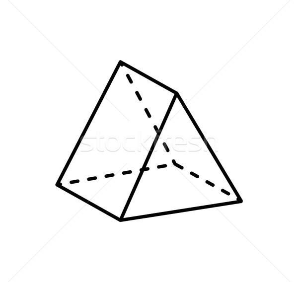 Meetkundig cijfer scherp zwarte vorm projectie Stockfoto © robuart