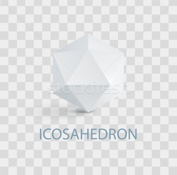 Aislado blanco forma complicado geométrico figura Foto stock © robuart