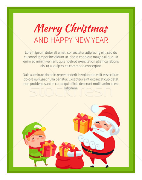 Happy New Year and Merry Christmas Bright Banner Stock photo © robuart