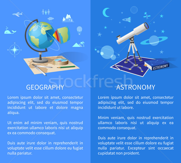 Géographie astronomie page internet monde Photo stock © robuart