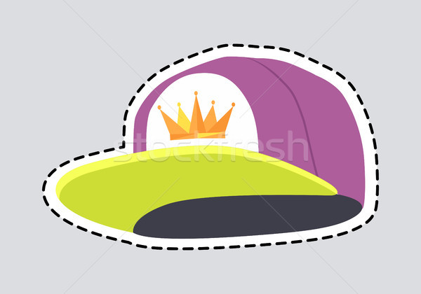 Male Colourful Rap Cap Isolated Illustration Patch Stock photo © robuart
