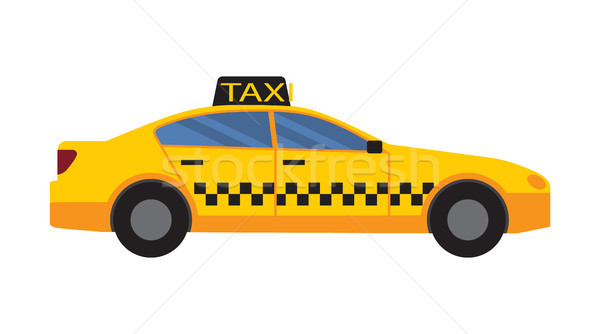 Taxi auto Geel kleur pleinen Windows Stockfoto © robuart