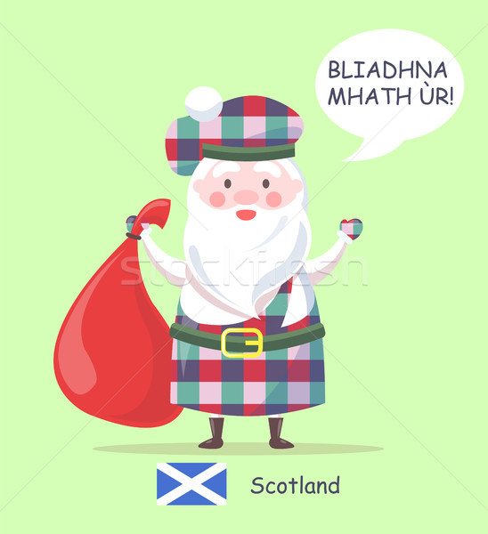 Schotland kerstman poster man permanente traditioneel Stockfoto © robuart