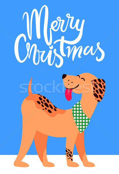 Merry Christmas Banner with Symbol of 2018 Year Stock photo © robuart
