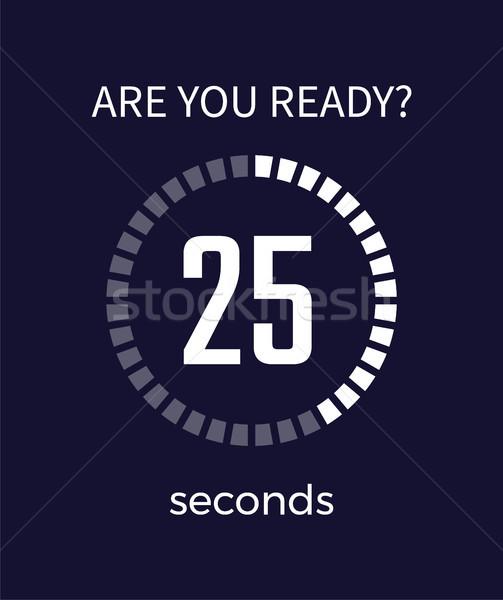 準備 タイマー 秒 カウントダウン 25 ストックフォト © robuart