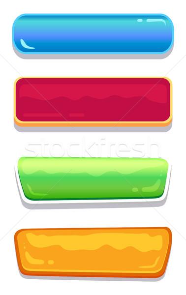 Verschillend kleuren ingesteld navigatie Stockfoto © robuart