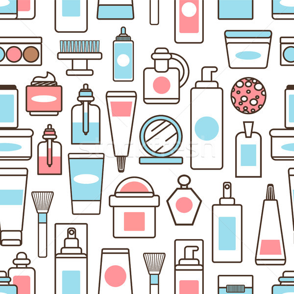 Bottles and Jars with Creams and Lotions Pattern Stock photo © robuart