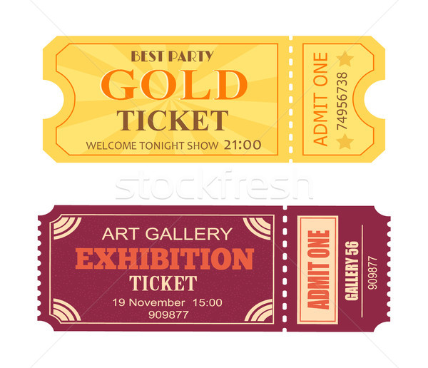 Best Party Gold Ticket Art Gallery Exhibition Icon Stock photo © robuart