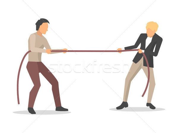 Hommes concurrence deux affaires Photo stock © robuart