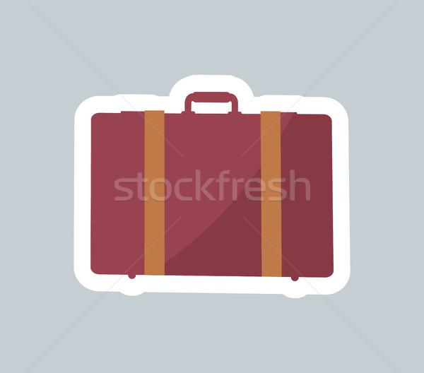 Cute geval kleurrijk banner witte schets Stockfoto © robuart