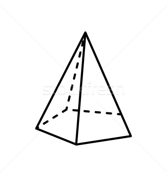 Meetkundig cijfer scherp vorm projectie rechtdoor Stockfoto © robuart