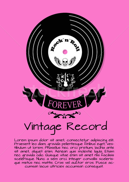 Rock and Roll Forever Vintage Record Poster Stock photo © robuart