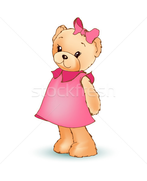 Modest Female Teddy Bear, Vector Illustration Stock photo © robuart