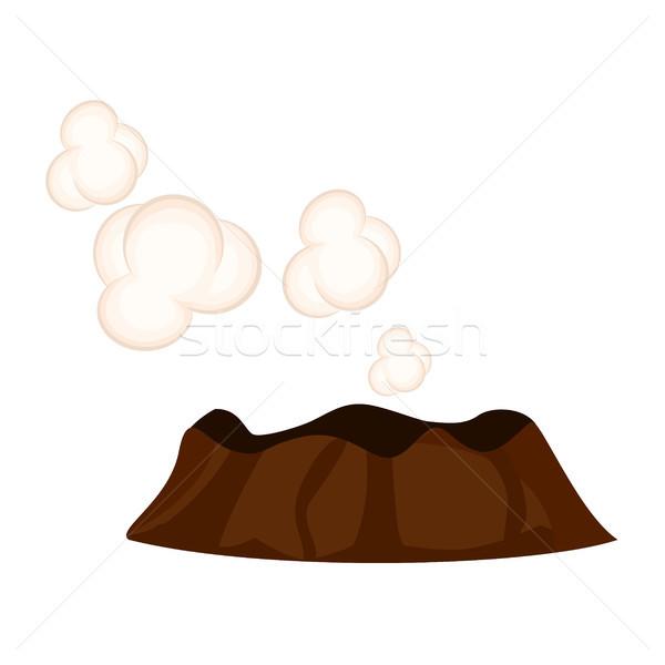 спальный вулкан белый облака графических икона Сток-фото © robuart