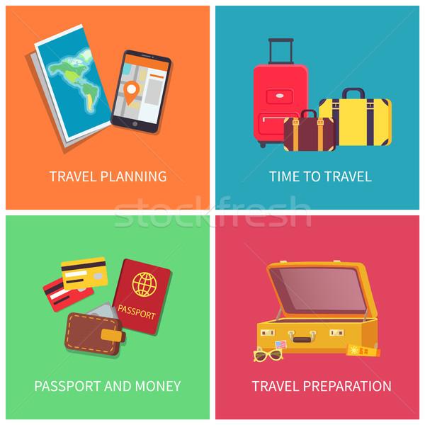путешествия планирования подготовка вещи важный Сток-фото © robuart