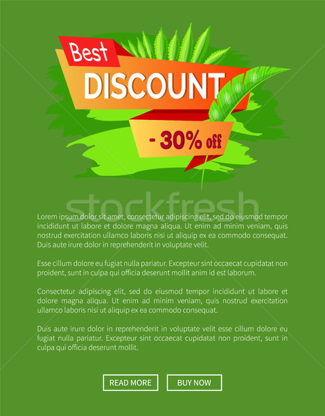 Best Discount Summer Sale with 30 Off Promo Banner Stock photo © robuart