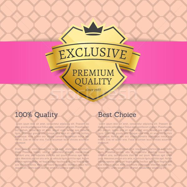 Exkluzív prémium minőség legjobb választás márka címke Stock fotó © robuart