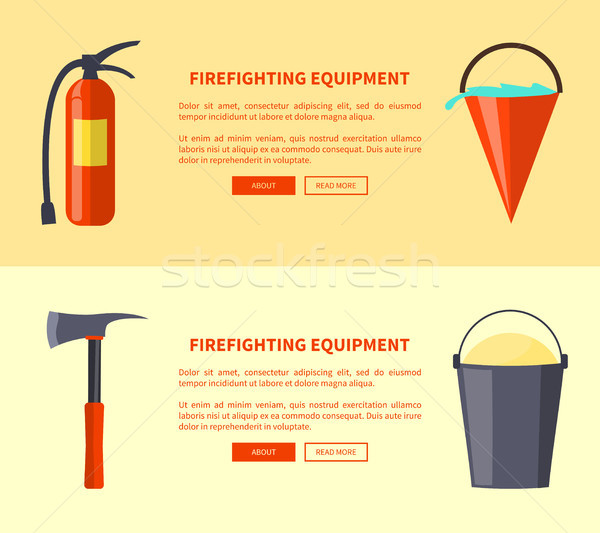 Set of Special Isolated Fire Protection Equipment Stock photo © robuart