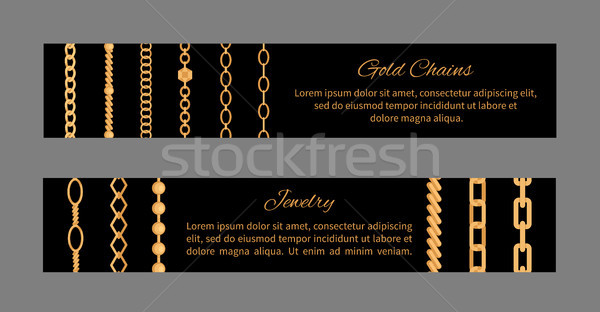 Jewelry Gold Chains Templates Vector Illustration Stock photo © robuart