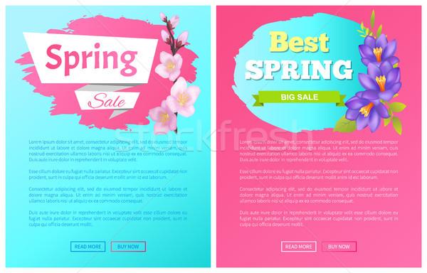 En iyi bahar büyük satış Filmi etiketler Stok fotoğraf © robuart