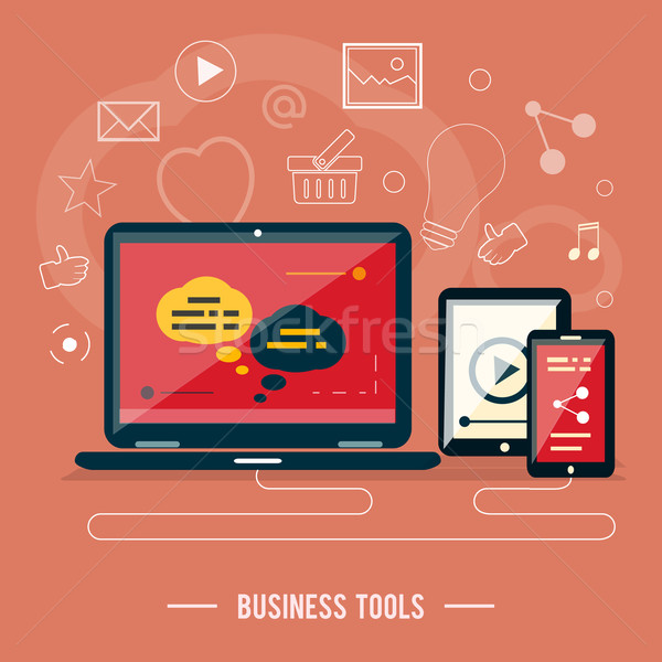 Business tools concept Stock photo © robuart