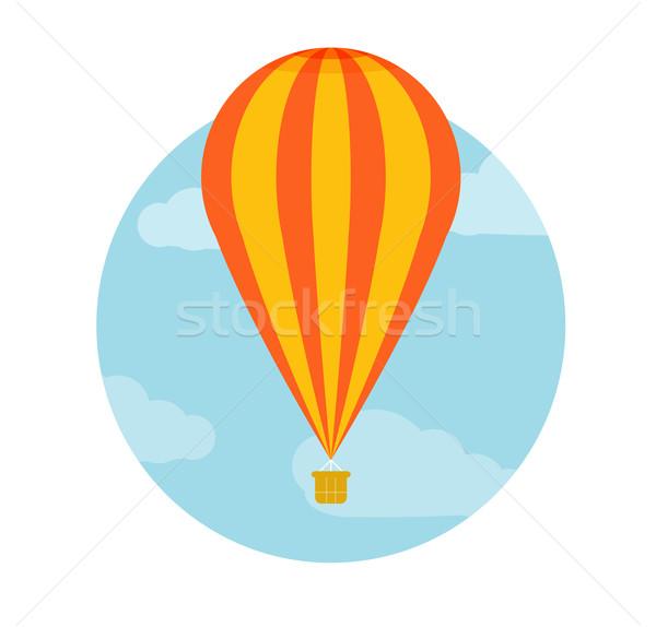 Balonem pływające ikona planowania Zdjęcia stock © robuart