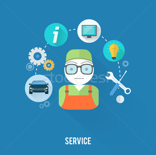 Serviço mestre item teia móvel Foto stock © robuart