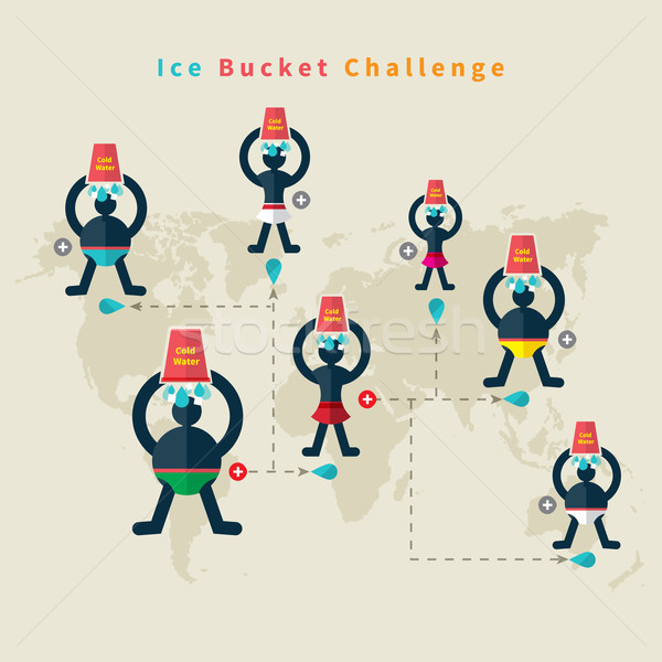 氷 バケット 挑戦 女性 男 健康 ストックフォト © robuart