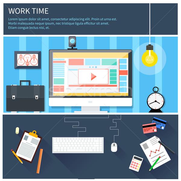 Tiempo trabajo proceso negocios diseno proyecto Foto stock © robuart