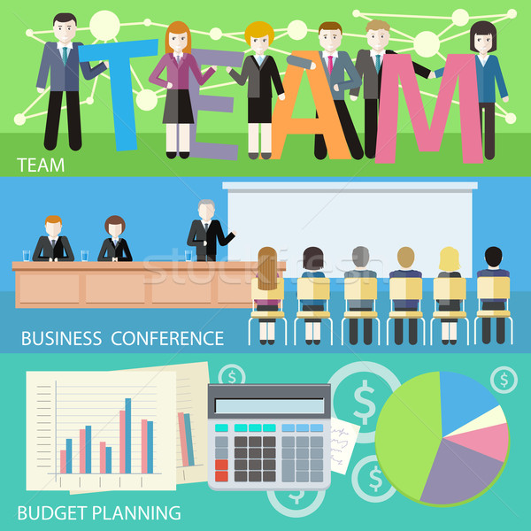 Business plan budget planning Zoek man Stockfoto © robuart