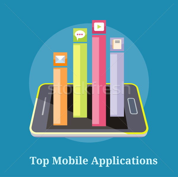 Top Apps Mobile Applications Stock photo © robuart