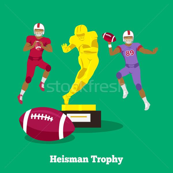 Heisman Trophy Concept Flat Design Stock photo © robuart